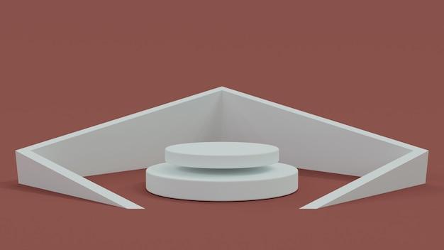Formas 3d abstratas e pódio para sua colocação de produto renderizadas em 3d