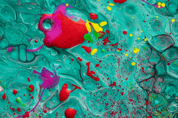 Formas abstratas em acrílico arte contemporânea