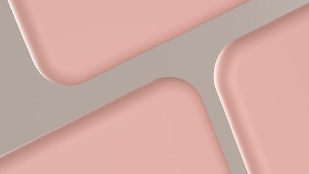 Formas abstratas rosa redonda em cinza