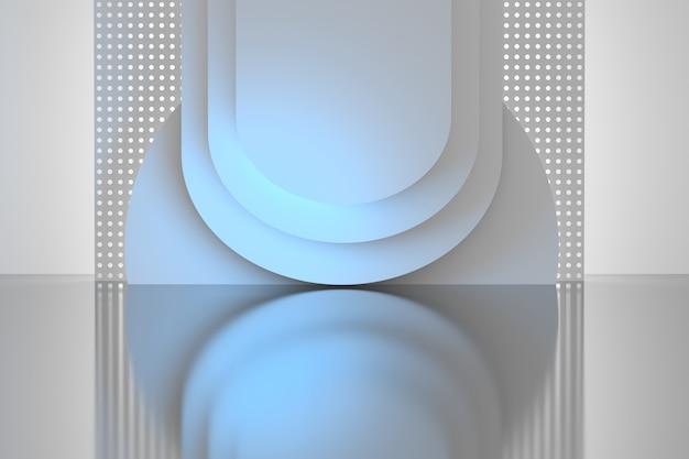 Formas circulares de baixo poli com um plano perfurado com furos