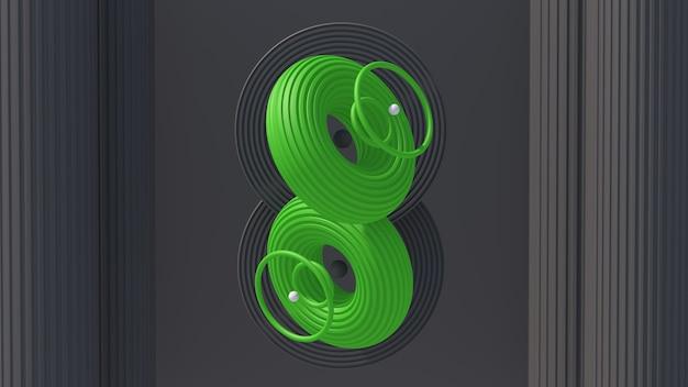 Formas circulares texturizadas de verde e cinza