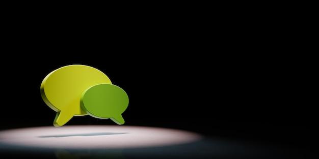 Formas de balões de fala em destaque isoladas