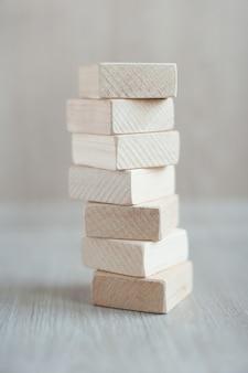 Formas de blocos de madeira