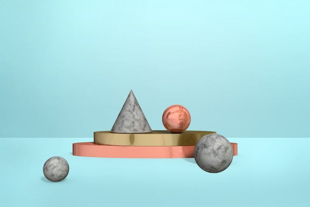 Formas de mármore geométricas