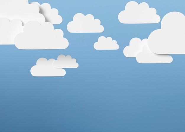 Formas de nuvem com fundo azul