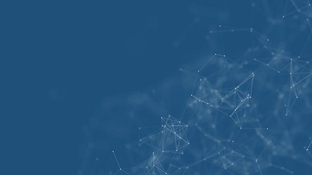 Formas geométricas azuis do plexo abstrato. conexão e conceito da web.