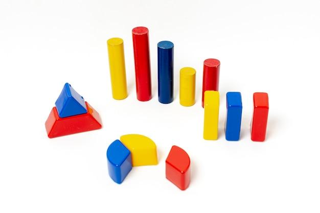 Formas geométricas coloridas para estatísticas