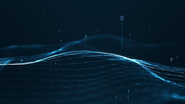 Formas geométricas do plexo abstrato. conceito da conexão e da web. digital.