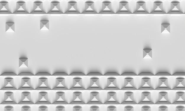 Formas geométricas em relevo e fundo de sombras