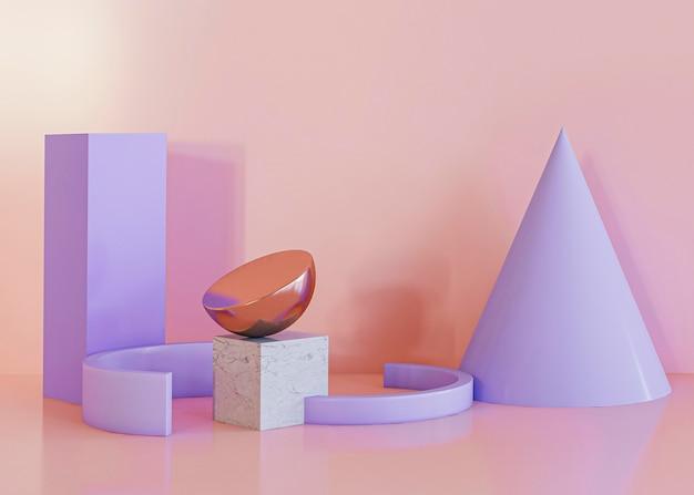 Formas geométricas formas de fundo violeta