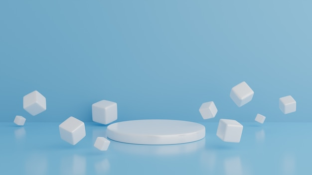 Formas geométricas fundo minimalista gerado por computador com cubos.