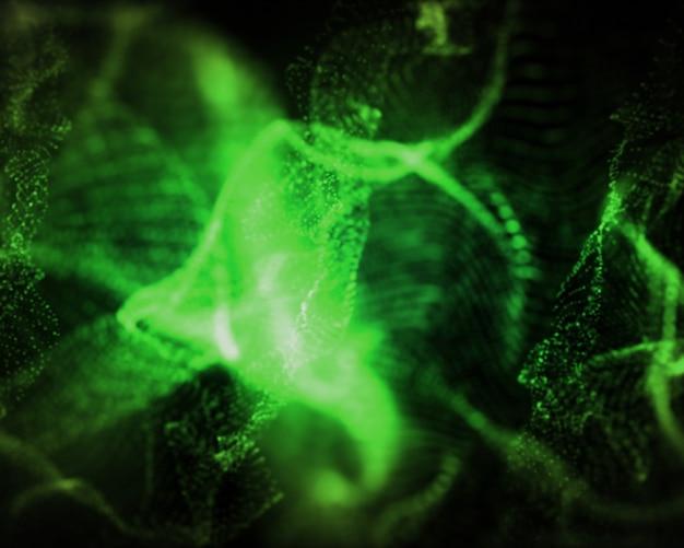 Formas indefinidas de luzes verdes