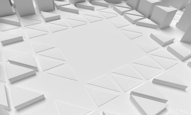 Formas poligonais de fundo vista elevada