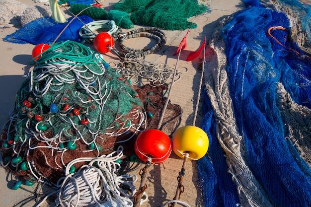 Formentera balearic islands redes de pesca de pesca palangreiro