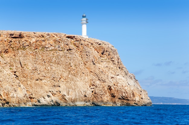 Formentera barbaria cape lighthouse view from sea