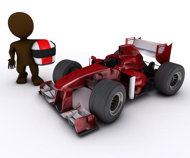 Fórmula um carro e motorista