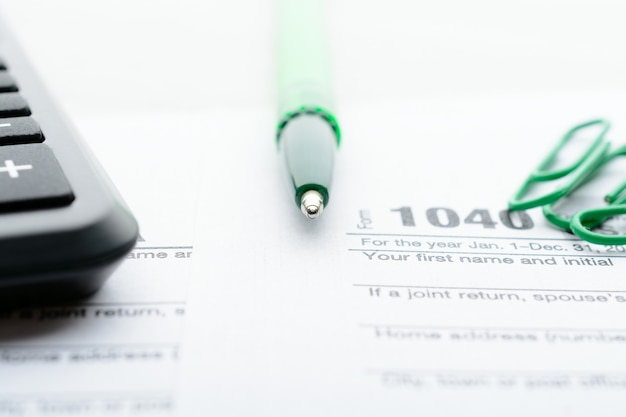Formulário de declaração fiscal