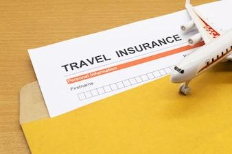 Formulário de pedido de seguro de viagem