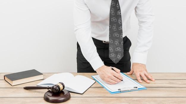 Formulário de preenchimento de advogado