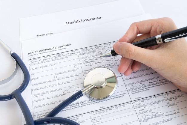 Formulário de seguro de documento de sinais