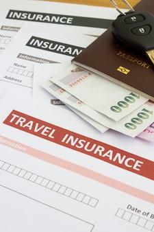Formulário de seguro de viagem