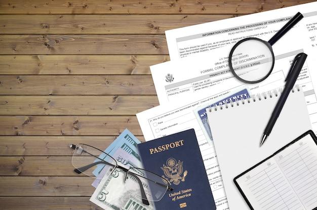Formulário ds3079 do departamento de estado dos eua queixa formal de discriminação