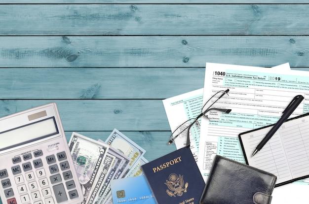 Formulário irs 1040 declaração de imposto de renda individual