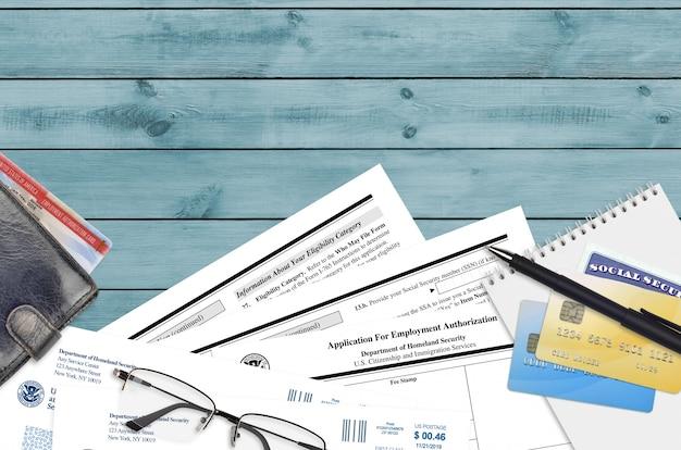Formulário uscis i-765 pedido de autorização de emprego