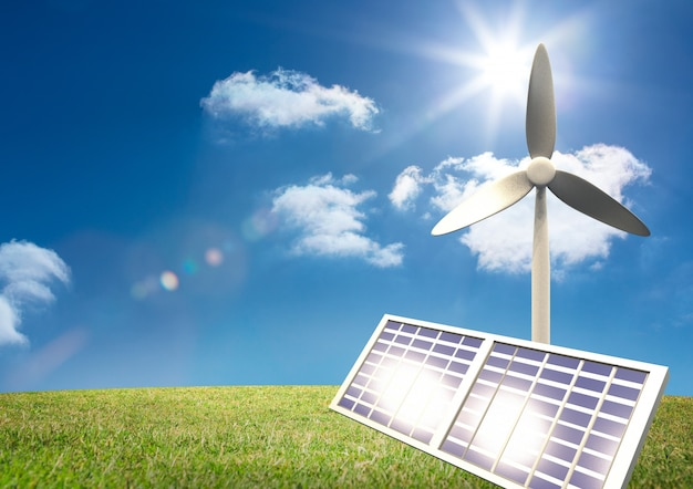 Fornecimento de energia solar máquinas exploração ensolarado