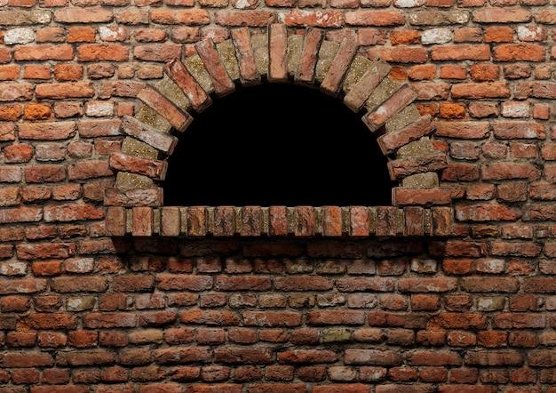 Forno tradicional para pizza a lenha em tijolo vermelho, sem fogo e isolado. copie o espaço para banner e brochura. ilustração 3d