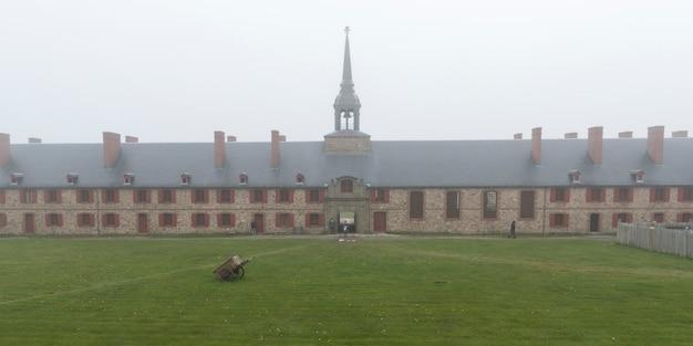 Fortaleza, de, louisbourg, louisbourg, ilha breton capa, nova escócia, canadá