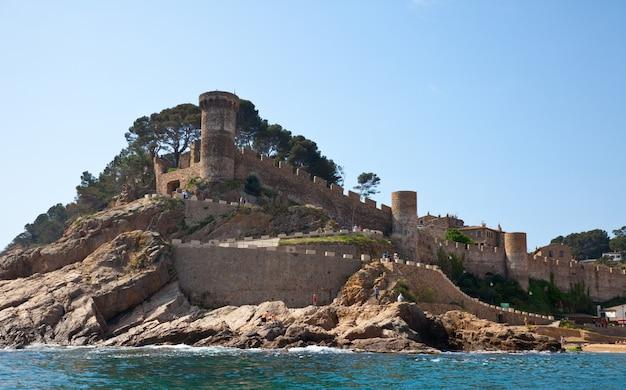 Fortaleza de vila vella em tossa de mar