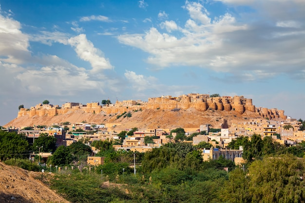 Forte jaisalmer - um dos maiores fortes do mundo, conhecido como