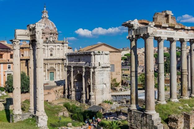 Fórum romano em roma, itália