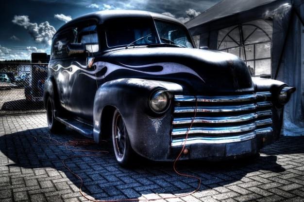 Fosco caminhão preto