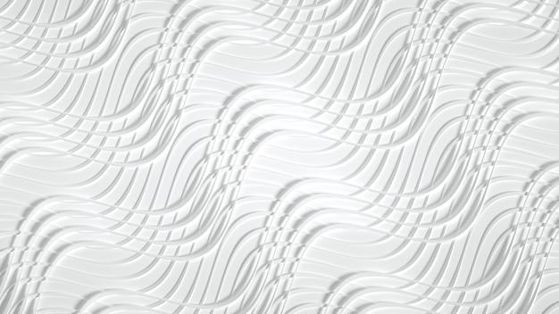 Fosco com estampa tridimensional, ondas e listras.