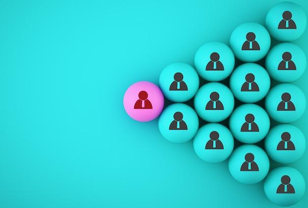 Foto abstrata da equipe de negócios de recrutamento e gestão de recursos humanos, vinculando entidades, hierarquia e rh