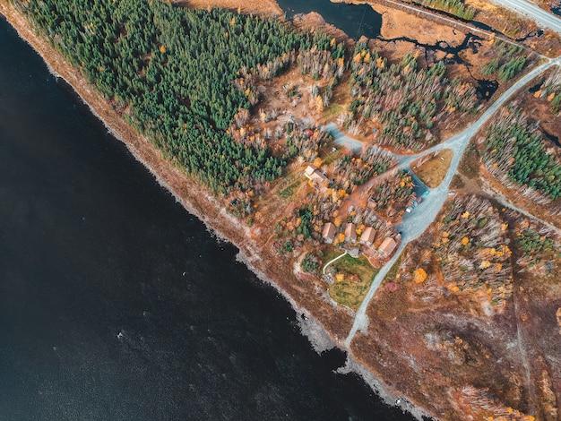 Foto aérea da paisagem