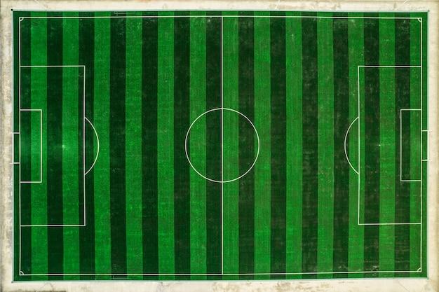 Foto aérea do campo de futebol