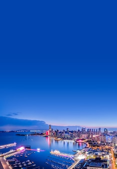 Foto aérea do centro olímpico de vela de qingdao