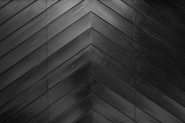 Foto aproximada do canto da parede de madeira