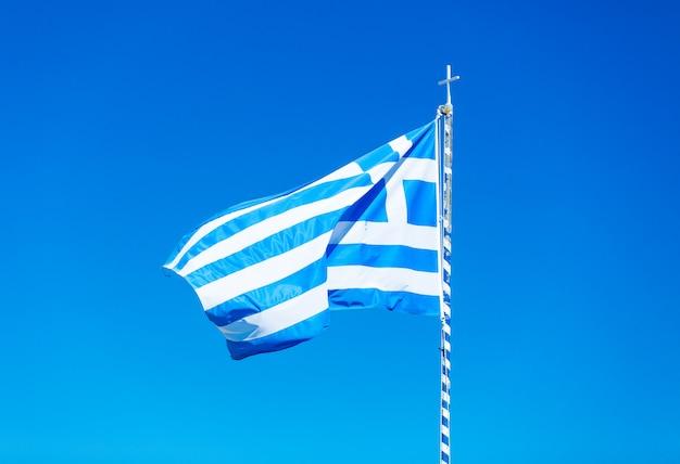 Foto da bandeira grega