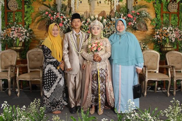 Foto da cerimônia de casamento na indonésia