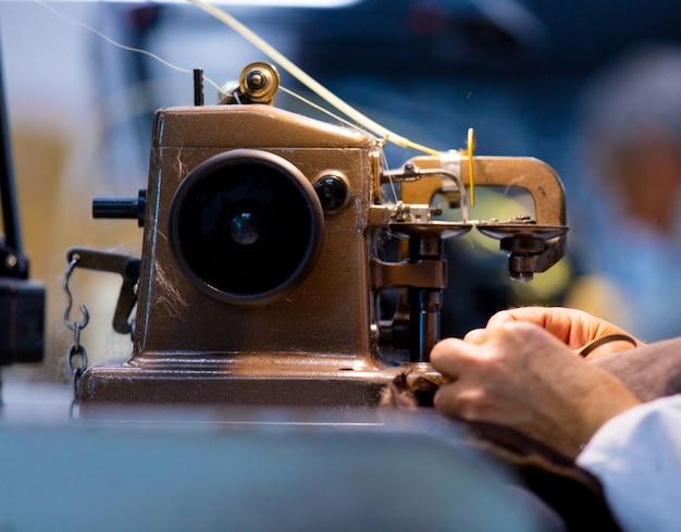 Foto da máquina de costura