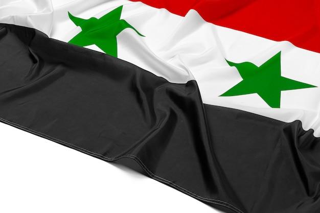 Foto da tela síria bandeira close-up