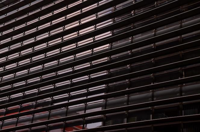 Foto de baixo ângulo de um projeto arquitetônico moderno