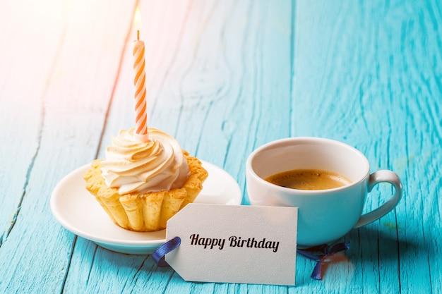 Foto de bolo, café