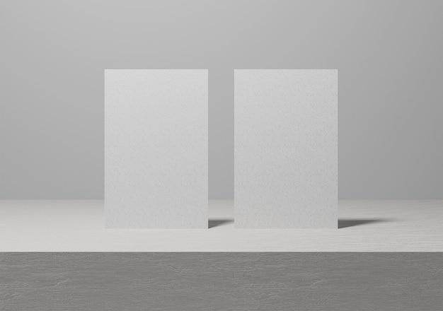 Foto de cartão de visita em branco vertical