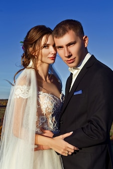 Foto de casamento de um casal nas montanhas