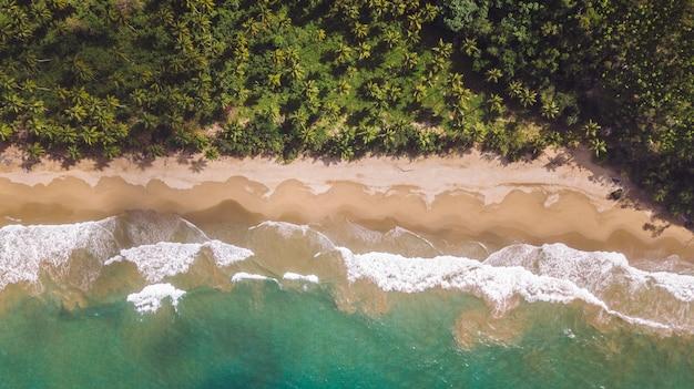 Foto de drone cenital da praia virgem